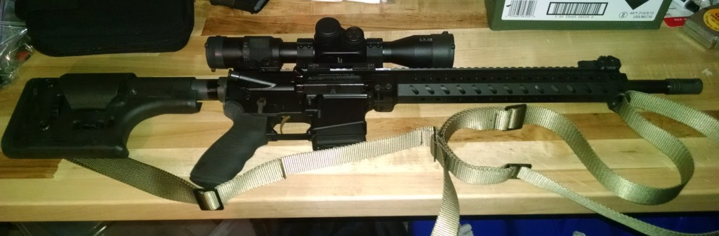 My AR before stock and scope adjustment